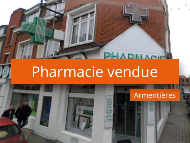 Pharmacie vendue secteur Flandres