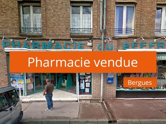 Pharmacie vendue à Bergues