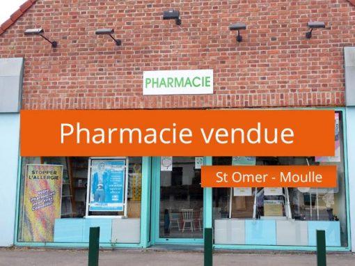 Pharmacie vendue à Moulle – St Omer