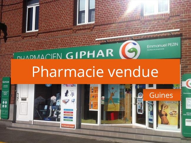 Pharmacie vendue axe Lille Béthune