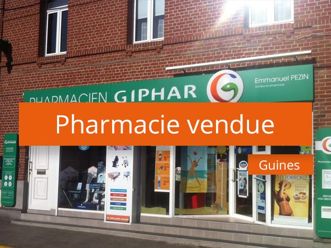 Pharmacie à vendre axe Lille Béthune
