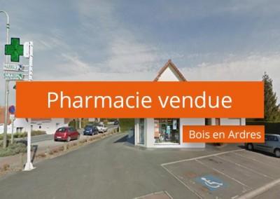 Pharmacie vendue à Bois en Ardres
