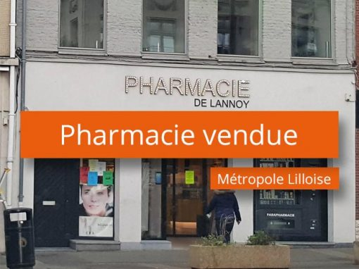 Pharmacie vendue métropole Lilloise