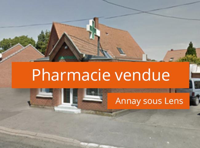Pharmacie vendue à Annay sous Lens