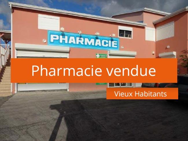 Pharmacie vendue Vieux Habitants Guadeloupe