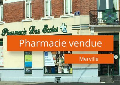 Pharmacie vendue à Merville