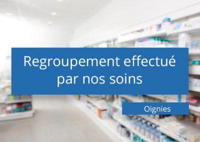 Regroupement de pharmacies à Oignies