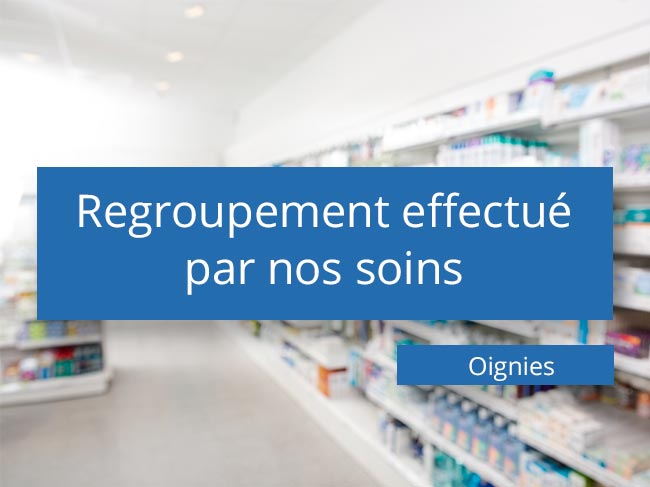 Regroupement de pharmacies à Oignies