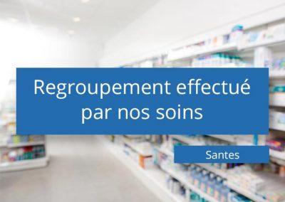Regroupement de pharmacies à Santes