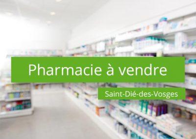 Pharmacie à vendre Secteur Saint-Dié-des-Vosges
