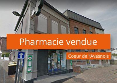 Pharmacie vendue au cœur de l'Avesnois