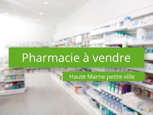 Pharmacie à vendre Haute Marne petite ville