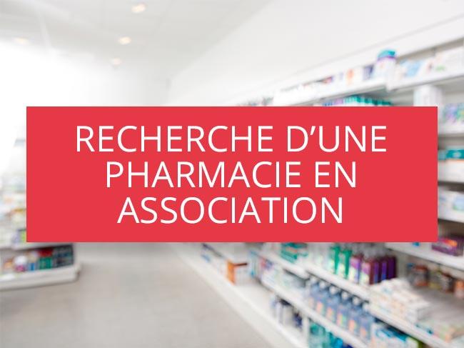 Recherche d'une pharmacie en association