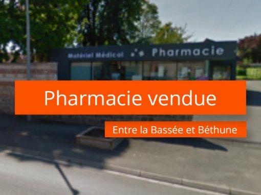 Pharmacie à vendre entre la Bassée et Béthune
