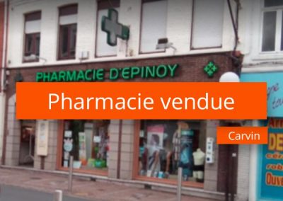 Pharmacie à vendre Carvin
