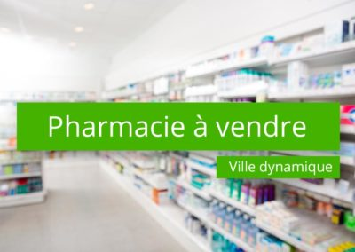 Pharmacie à vendre Ville Dynamique